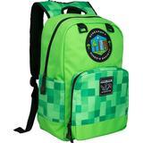 Skoletaske Minecraft Miner's Society - Green