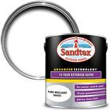 Paint Sandtex 10 Year Exterior Satin Wood Paint, Metal Paint White 2.5L