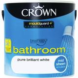 Wet Room Paint Crown Breatheasy Bathroom Wet Room Paint White 2.5L