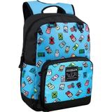 Skoletaske Minecraft Bobble Mobs Backpack - Blue