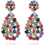 Smycken Caroline Svedbom Hanna Rainbow Combo Rhodium Earrings w. Swarovski Crystals