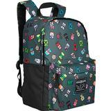 Skoletaske Minecraft Bobble Mobs Backpack - Grey