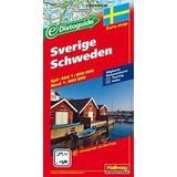 Karta sverige Böcker Sverige Distoguide Hallwag karta: 1:800000-1:900000 (Karta, Falsad., 2012)