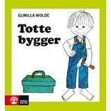 Totte gunilla Böcker Totte bygger (Kartonnage, 1997)