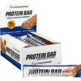 Protein Kosttillskott Nutramino Proteinbar Crispy Chocolate Brownie 64g 12 st