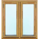 Effektfönster M12 Trä Sidohängt fönster 2-glasfönster 100x40cm