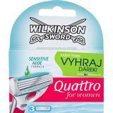 Rakblad & Rakbladskassetter Wilkinson Sword Quattro for Women Sensitive 3-pack