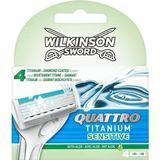 Rakblad & Rakbladskassetter Wilkinson Sword Quattro Titanium Sensitive 4-pack