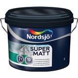 Målarfärg Nordsjö Super Matt Träfasadsfärger Vit 10L