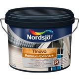 Målarfärg Nordsjö Tinova Premium Exterior + Träfasadsfärger Röd 10L