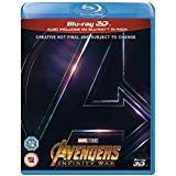 Avengers: Infinity War Blu-ray Avengers Infinity War [Blu-ray 3D] [2018] [Region Free]