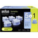 Rengöring för rakapparater Braun Clean & Renew CCR 5+1 6-pack