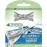 Rakblad & Rakbladskassetter Wilkinson Sword Quattro Titanium Sensitive Blades 8-pack