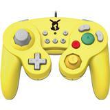 Super smash bros kontroll Spelkontroller Hori Pikachu Battle Pad - Yellow