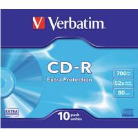 Verbatim CD-R Extra Protection 700MB 52x Slimcase 10-Pack