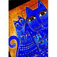 Smythe Sewn Fantastic Felines Mediterranean Cats Lined Mini Wrap (Inbunden, 2005)