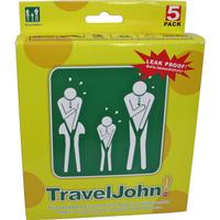 Engångs urin/spypåse - TRAVEL JOHN Disposable Vomit/Urine Bags 5-p