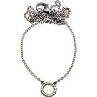 Edblad Glow Mini Stainless Steel Necklace w. Transparent Cubic Zirconium - 42cm (82933)