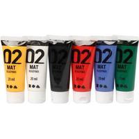 A Color Acrylic Paint Mat Readymix 02 6x20ml