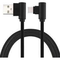 basus 2A USB laddare kabel för iPhone X 8 7 6 5 ipad snabb laddare laddningskabel mobiltelefon synkronisering nylonkabel svart 1m