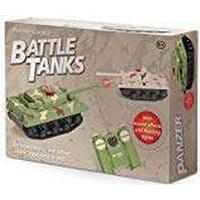 Set of 2 Fernsteuerungsrc Battle Tanks with Infrared Turrets War Game Gift