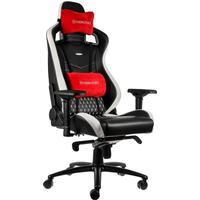 Noblechairs Epic Real Leather Gaming Chair BlackWhiteRed