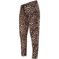 Mama.licious Leopard Printed Maternity Trousers Black/Black (20009967)