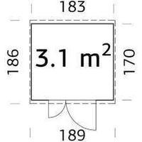 Förråd Leif - 3,1 kvm i byggelement,inkl. golv