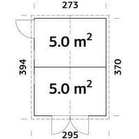 Förråd Dan - 10,0 kvm i byggelement,inkl. golv