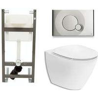 Vägghängd Toalettstol Ifö Spira Art 6245 med WC-fixtur Cliva