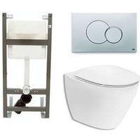 Vägghängd Toalettstol Ifö Spira Art 6245 med WC-fixtur Class