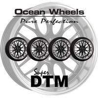 """Ocean Wheels Super DTM 18"""" 5x108 Svart Kompletta Hjul Fälgpaket"""