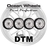 """Ocean Wheels Super DTM 18"""" 5x108 Silver Kompletta Hjul Fälgpaket"""