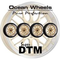 """Ocean Wheels Super DTM 18"""" 5x108 Guld Kompletta Hjul Fälgpaket"""