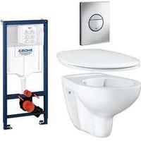 Grohe Vägghängd Toalettstol Grohe Bau Ceramic 39427 Komplett