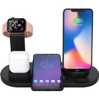 4 i 1 Trådlös Laddare LED Lampa X1 Smartphone, Apple Watch, AirPods