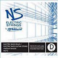 D'Addario NS Electric 4/4 Scale Medium Tension Single D String for Bass/Cello