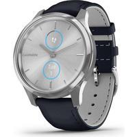 Garmin Vivomove 3 Style Moss Green Silver Smartwatch with Black EarBuds Bundle