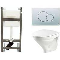 Vägghängd Toalettstol Ifö Sign 6875 med Ifö Sign 1100 Komple
