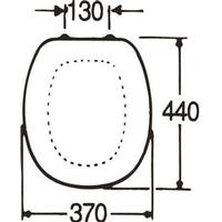 Toalettsits - Gustavsberg med lock till Gbg 325X