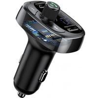 SiGN T Typed FM sändare, Bluetooth handsfree & Billaddare Svart