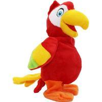 Papegoja Tiki Gående och pratar Röd 20 cm