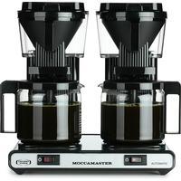 Dubbel kaffebryggare vit med termoskannor