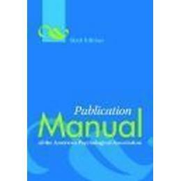 Publication Manual of the American Psychological Association (Inbunden, 2009)