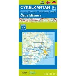 Cykelkartan Blad 27 Östra Mälaren: 1:90000 (Karta, Falsad., 2016)