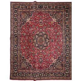 CarpetVista XVZR1408 Mashad Patina Signerad: Sanei (350x430cm) Flerfärgad