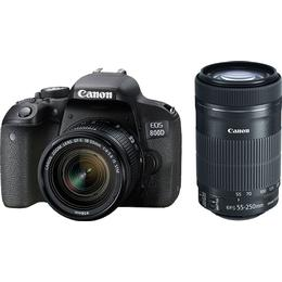 Canon EOS 800D + 18-55mm IS STM + 55-250mm IS STM