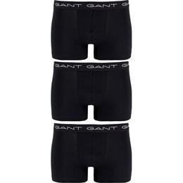 Gant Stretch Cotton Trunks 3-pack - Black