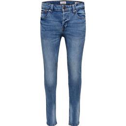 Only & Sons Warp Skinny Fit Jeans - Blue/Light Blue Denim