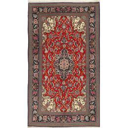 CarpetVista FAZB149 Ghom Sherkat Farsh (152x267cm) Flerfärgad